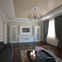 установка натяжных потолков в Сургуте в залах и гостиных комнатах