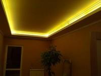 светодиодная подсветка установка в натяжной потолок